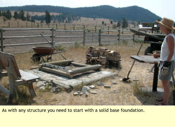As with any structure you need to start with a solid base foundation.